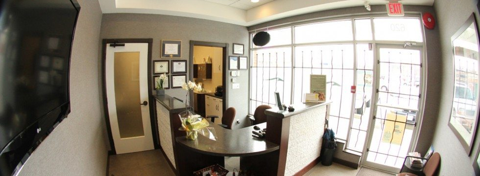 The front desk at North Shore Dental Group