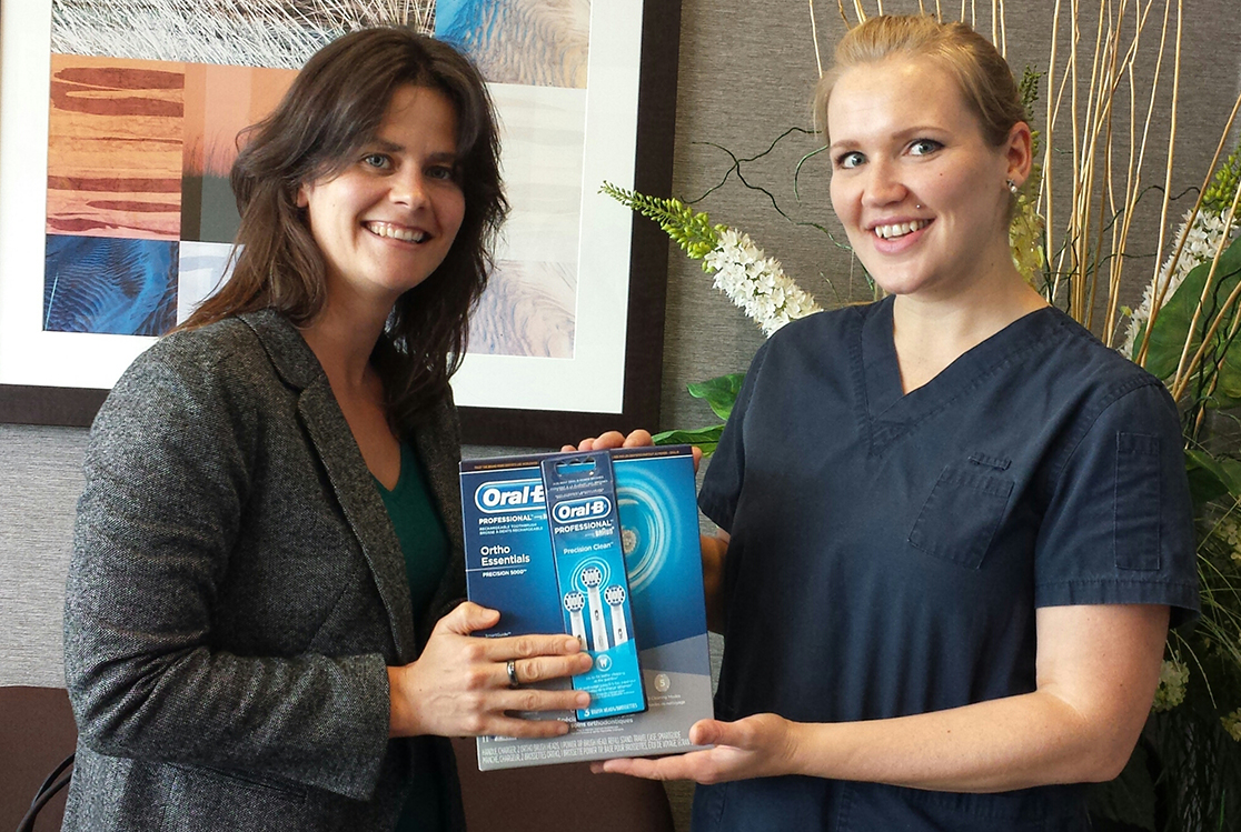 Our September 2014 Winner of an Oral B Toothbrush from your North Vancouver Dentist.