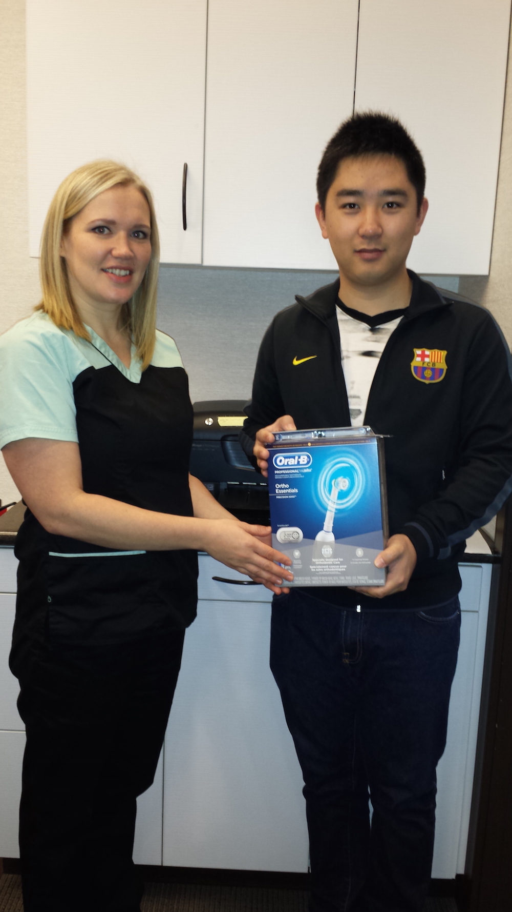 Our October 2014 Winner of an Oral B Toothbrush from your North Vancouver Dentist.